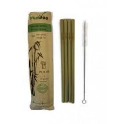 Pajitas de bambu 4+ limpiador